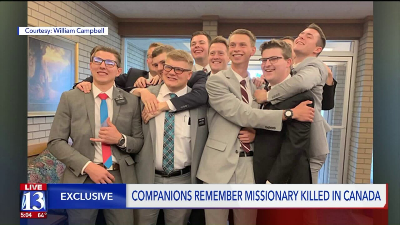 Returned missionaries remember companion and friend who died while serving in Canada