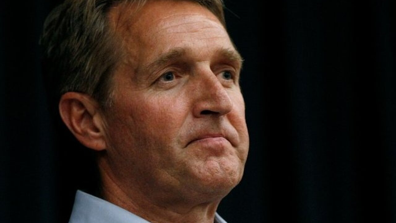 'Look at me': Sen. Jeff Flake confronted by protesters after saying he'll vote for Kavanaugh