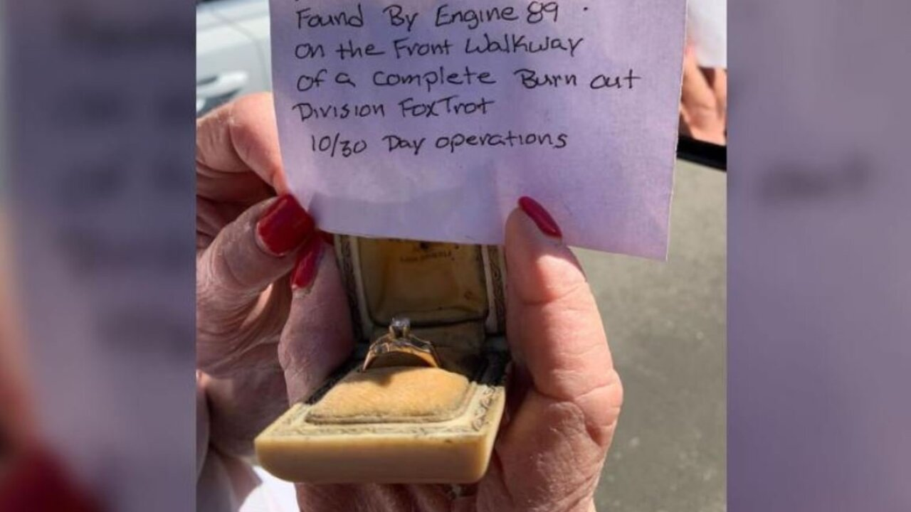 The Getty Fire destroyed everything in this woman's house — except her mother's wedding ring