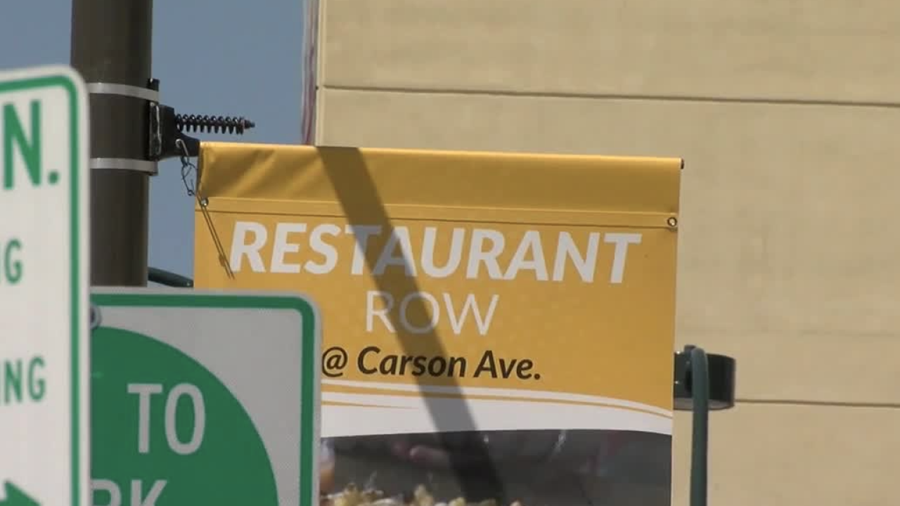 restaurant row signs