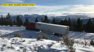Truck driver following GPS gets stuck on snowy Beartooth Highway