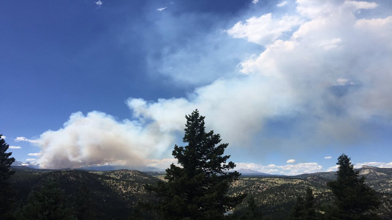 Wildfire: Evacuations possible near Nederland
