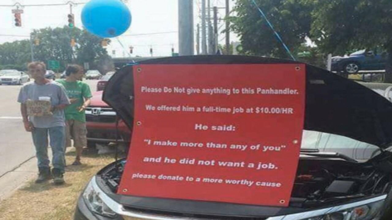 Car Dealership Shames Panhandler For Turning Down Job