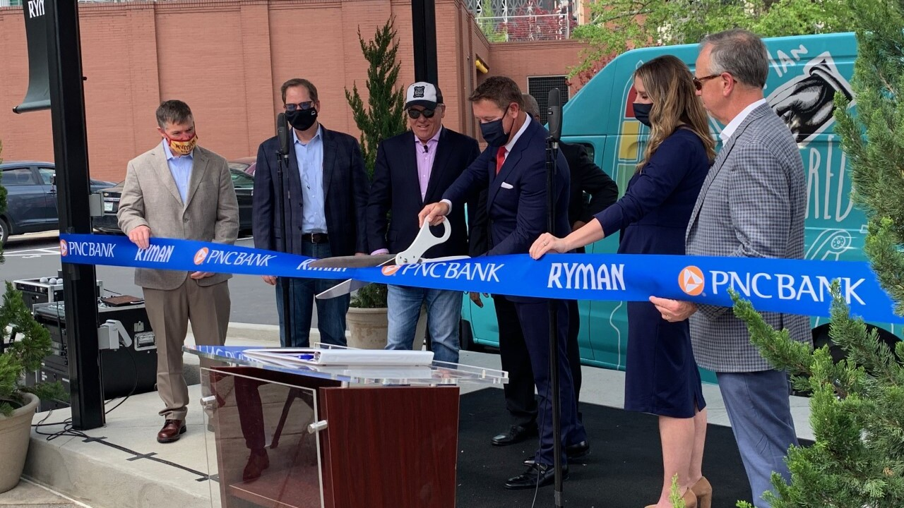ryman plaza ribbin cutting