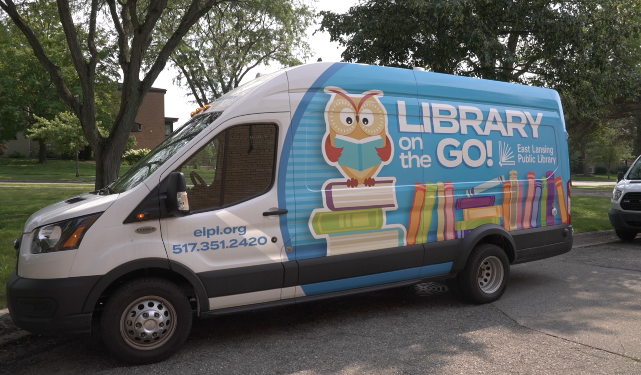 East Lansing Public Library's Library on the Go van