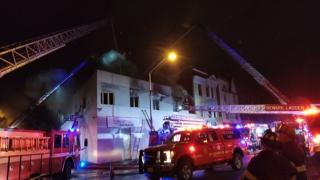 Newark building fire