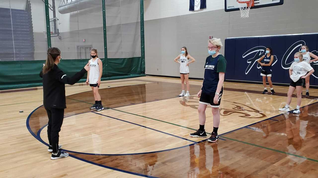 Pine Creek Girls Basketball Practice