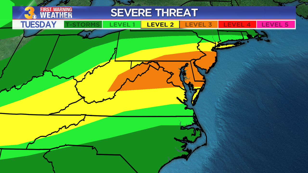 Monday's First Warning Forecast: Severe storm threat ahead