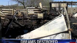 Brothers vow to rebuild after fire destroys their barn, steers