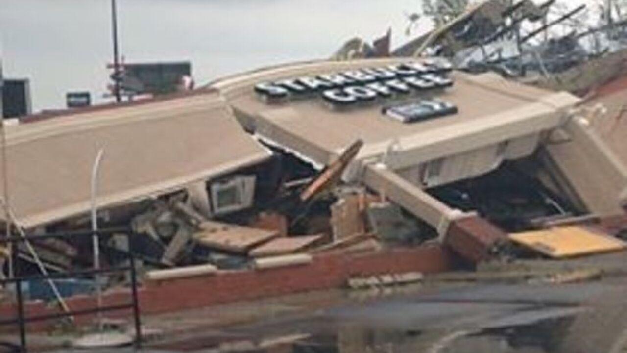 Witnesses: Tornado destroys Starbucks in Indiana