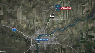 Man dies in crash several miles north of Great Falls