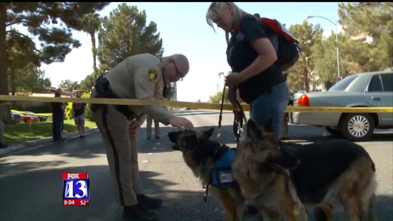 Utah woman and canine companions help responders cope in wake of Las Vegasshooting