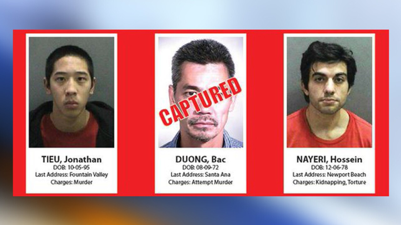 Report: 1 of 3 escaped Orange Co. inmates caught