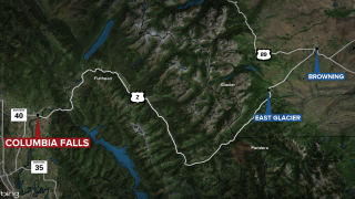 Columbia Falls stolen vehicle map