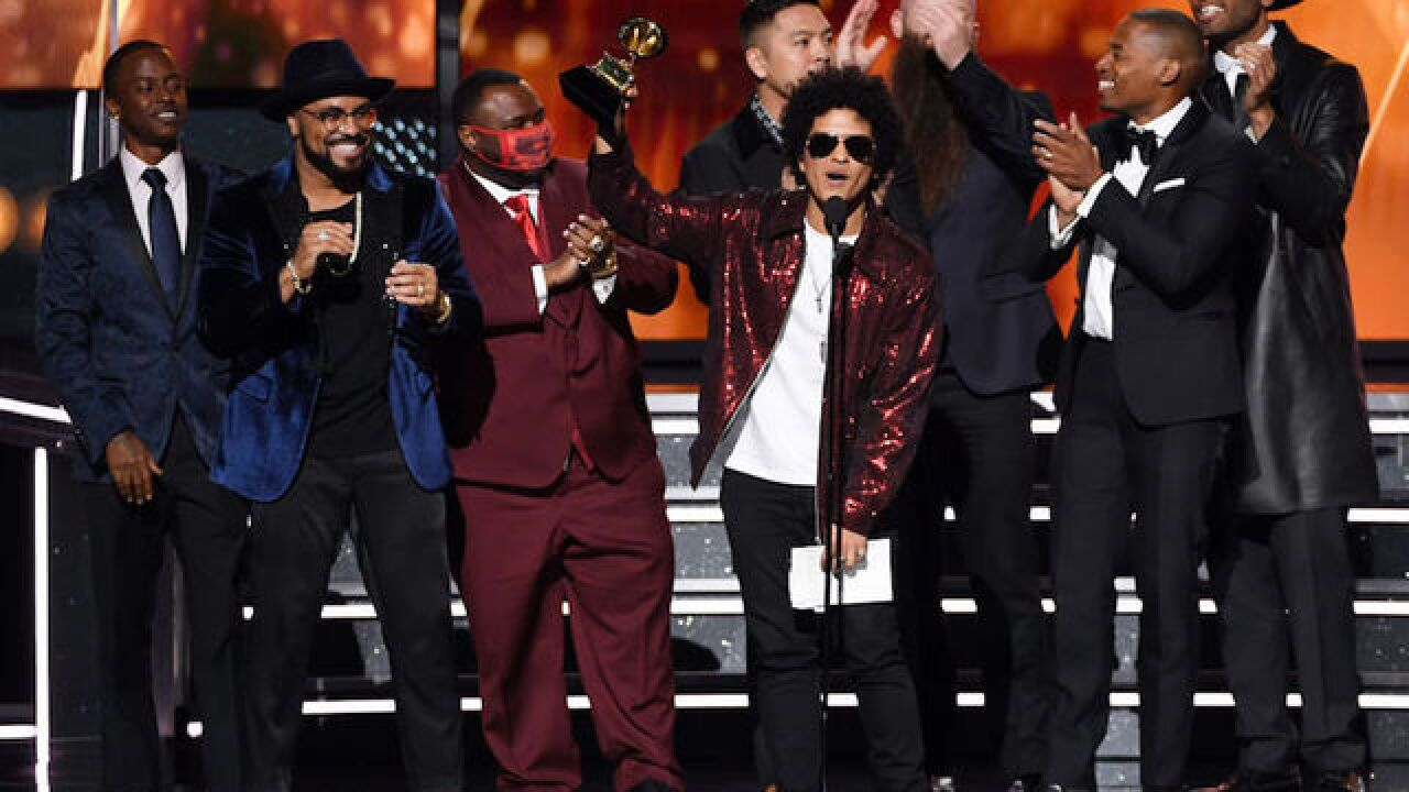 60th Grammy Awards: Bruno Mars wins album, song of the year