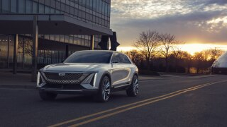 GM unveils its first ever all-electric vehicle, the Cadillac LYRIQ