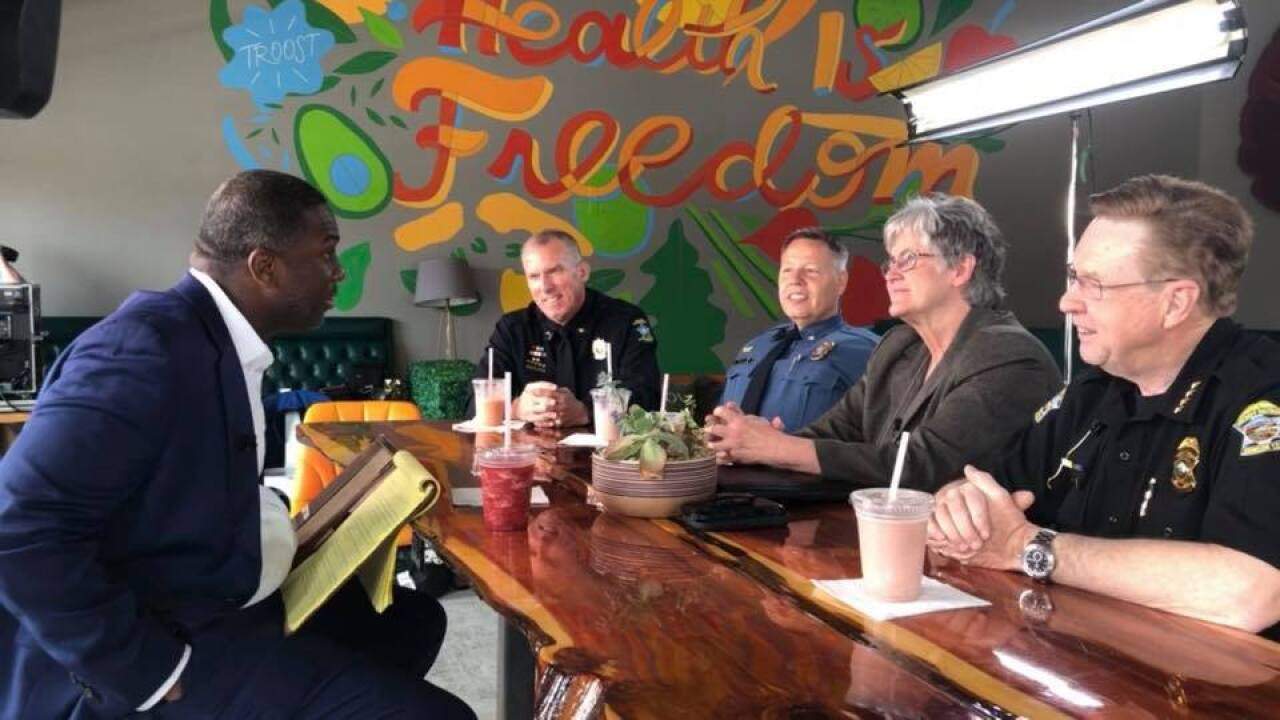 Kevin Holmes conversation with the police chiefs