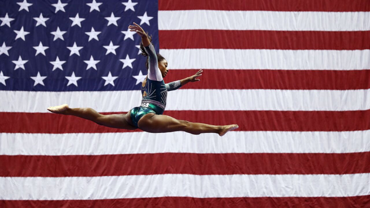 Simone Biles becomes first gymnast to land double-double dismount