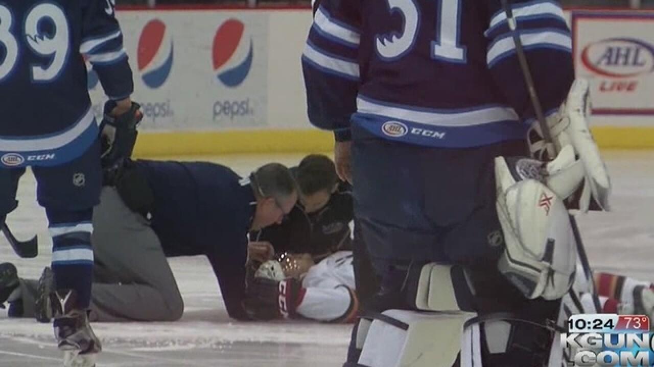 Hockey player Cunningham loses part of leg