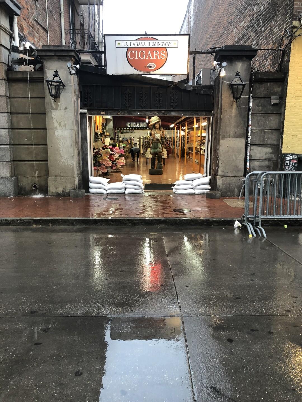 Heavy rain has fallen in New Orleans