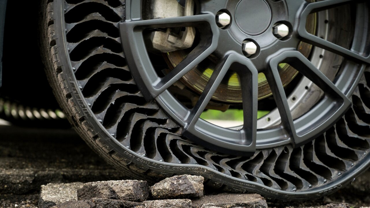 Michelin and GM are working on a puncture-proof tire