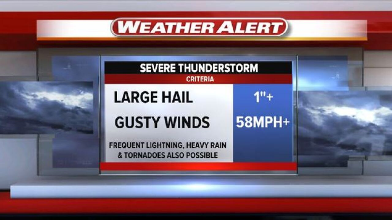 Wednesday's Weather Word: Severe Storm