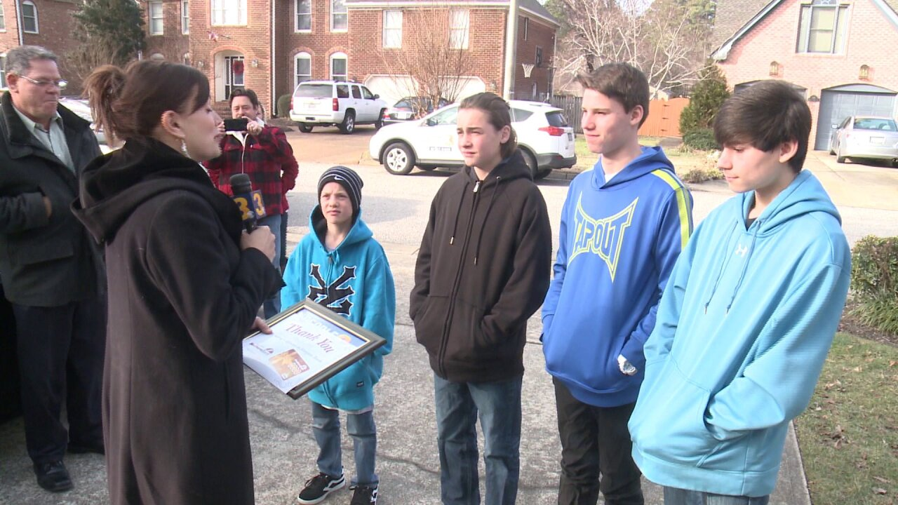 Chesapeake teenagers work hard to help others after blizzard