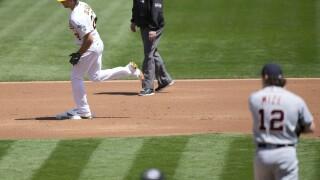 Matt Olson Casey Mize Tigers Athletics Baseball