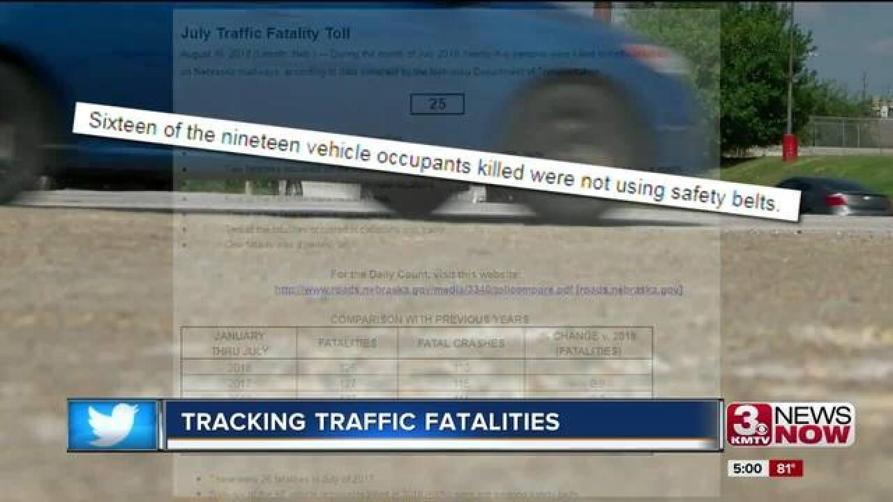NDOT: 25 traffic fatalities in July