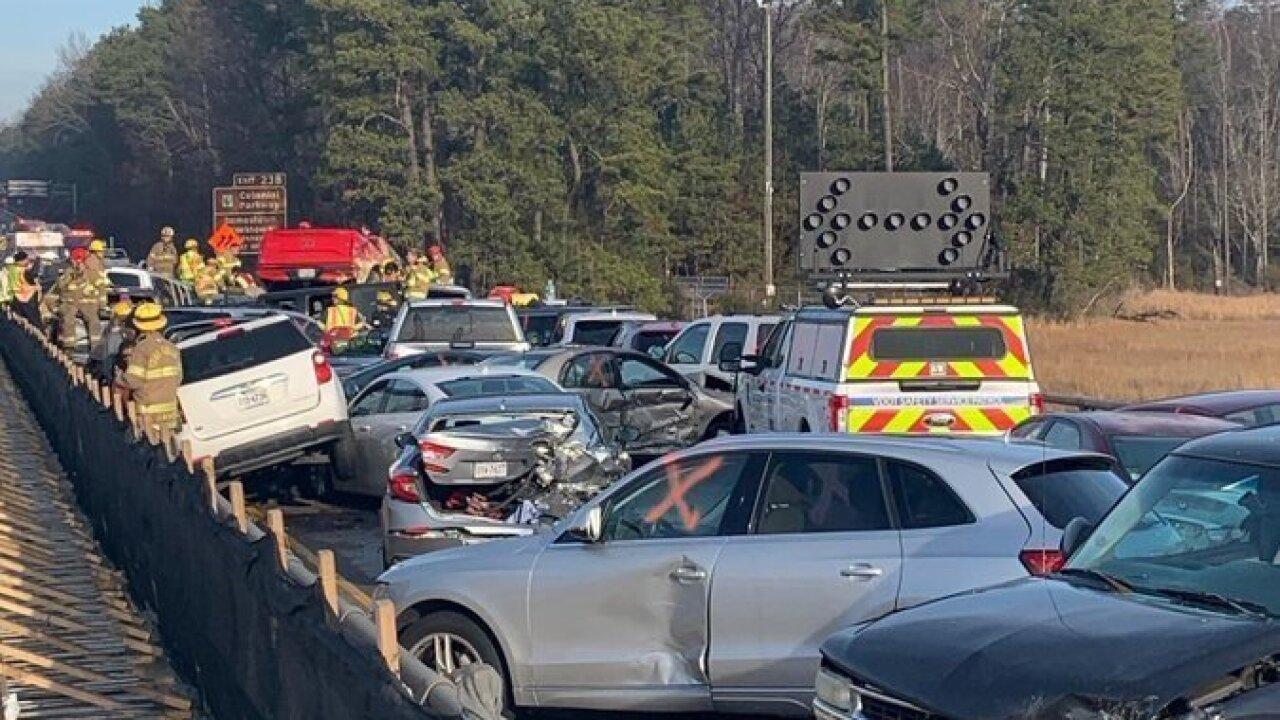 WTKR Multi-vehicle crash