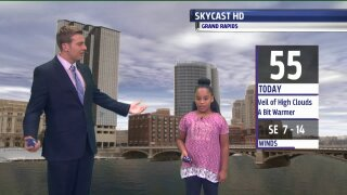Say hello to our October Weather Kid, Dakota