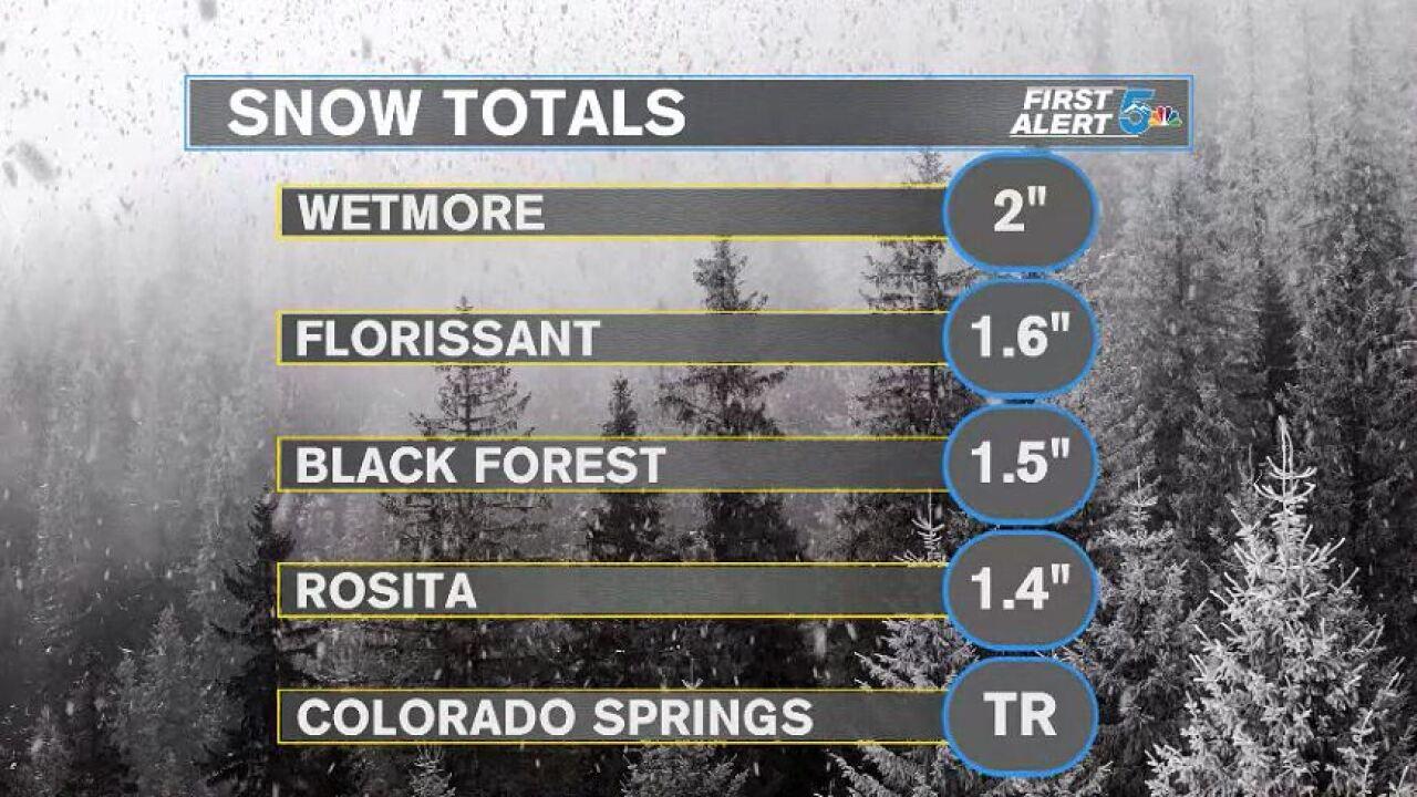 Snow totals graphic