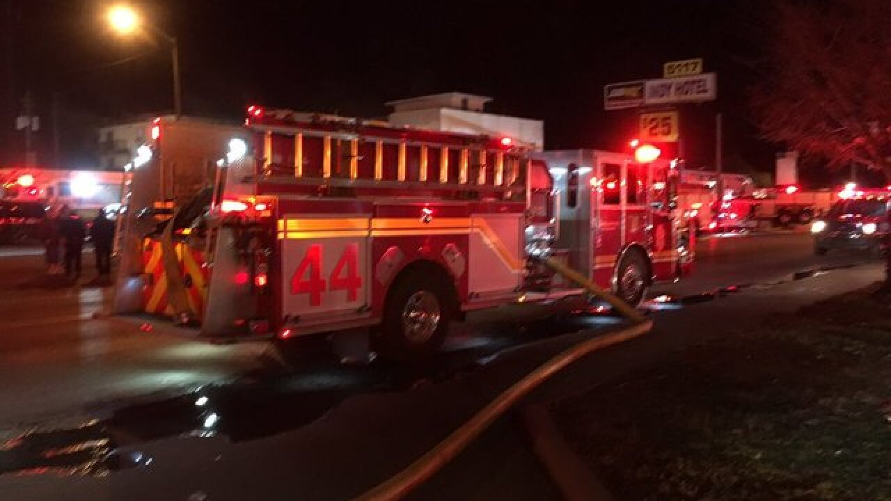 5 hospitalized after hotel fire, 40 evacuated