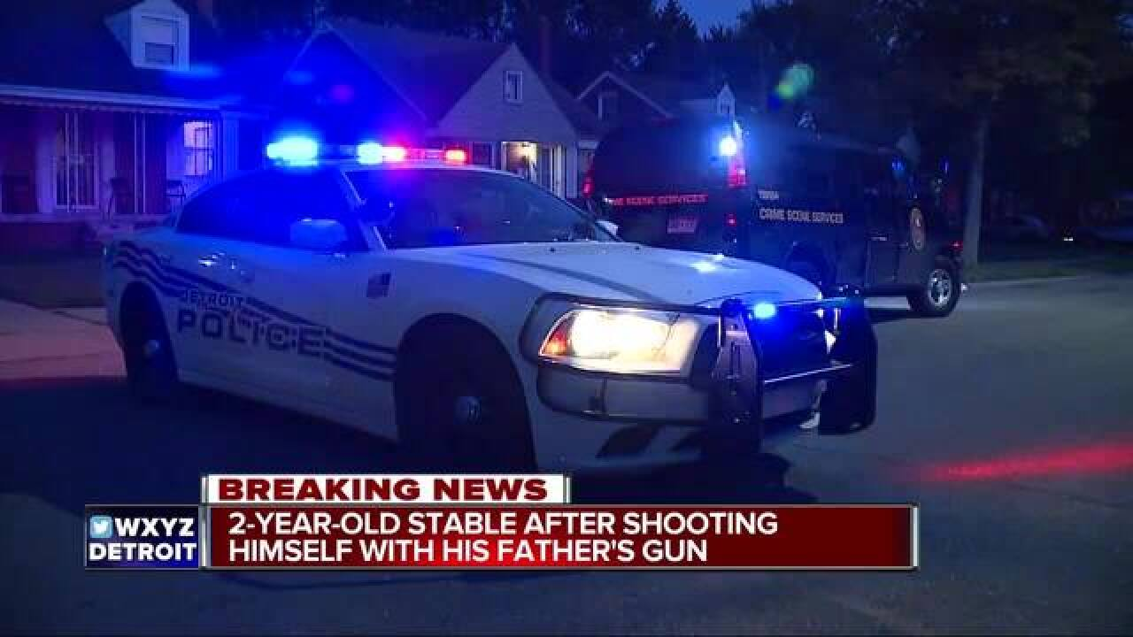 2-year-old shoots himself with father's gun