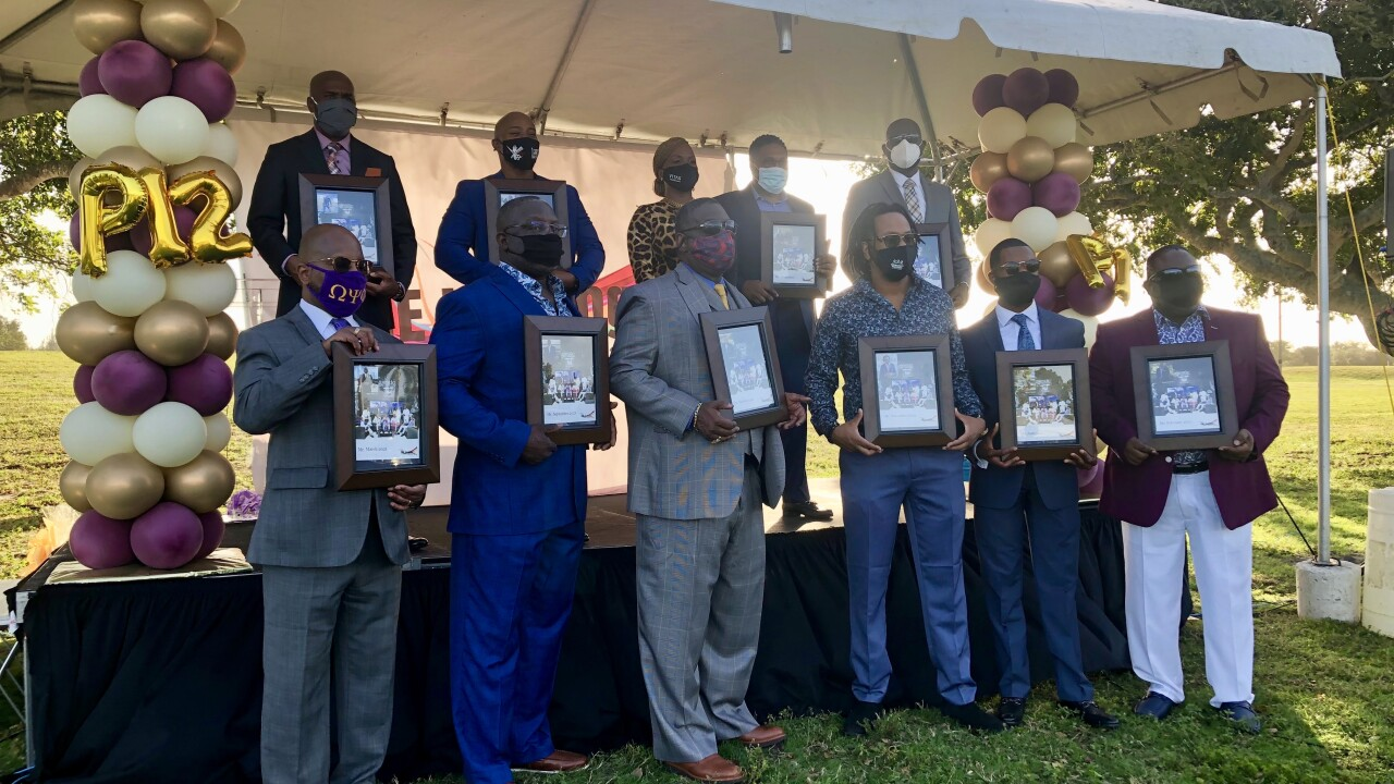 This year's calendar recognized Black men in healthcare, politics, media, human rights, non-profits and business.