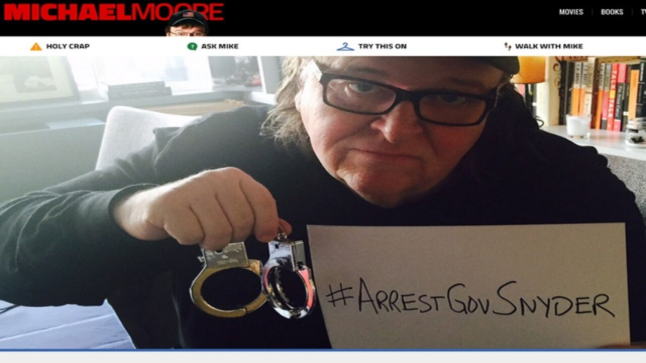 Michael Moore pens letter for arrest of Snyder