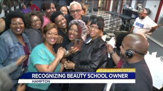 Hampton beauty and barber school owner gives back in a big way