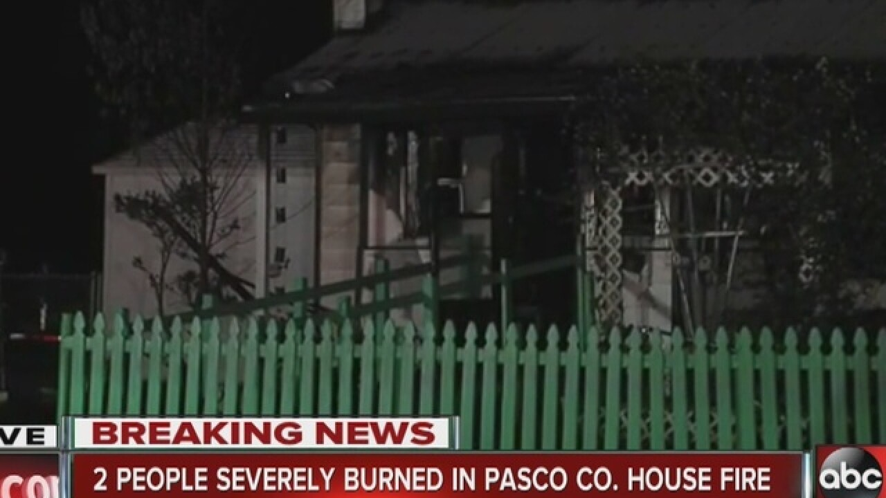 Two people hurt in a 2-alarm fire in Pasco