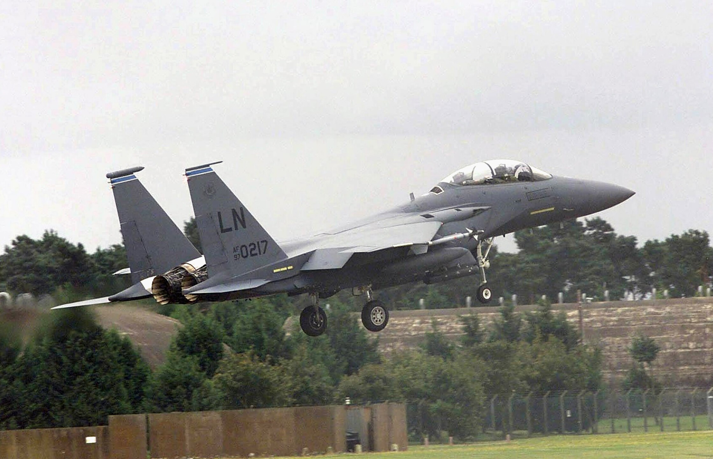 American aircraft on sorties from RAF Lakenheath, England