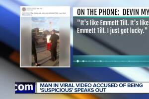 Man in viral video accused of being 'suspicious' speaks out