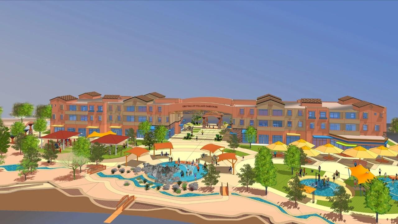 Oro Valley Village Center splash pad rendering