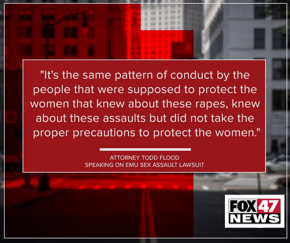 Quote from Todd Flood on sexual abuse case against Eastern Michigan University