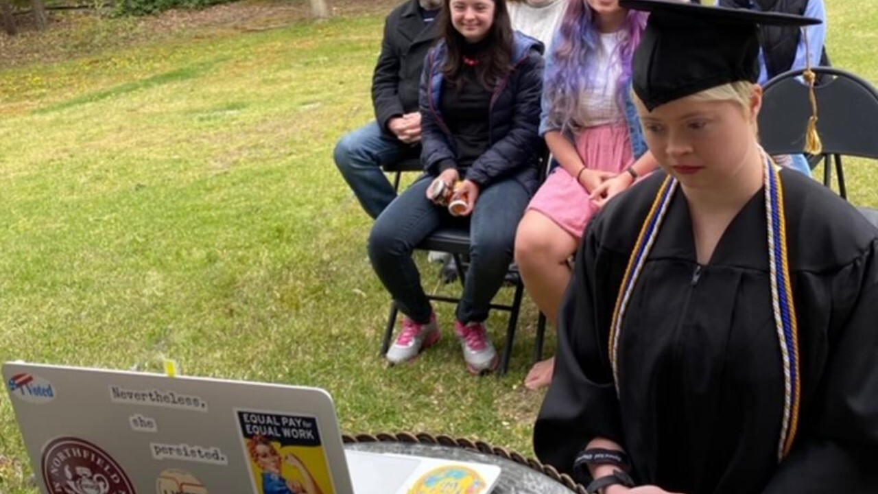 Woman is first person with Down syndrome to graduate from Rowan University