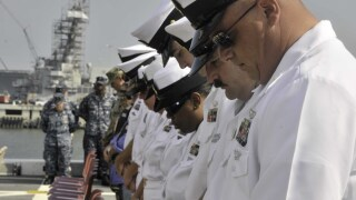 Photos: Sailors hold 9/11 memorial ceremony on USS NewYork