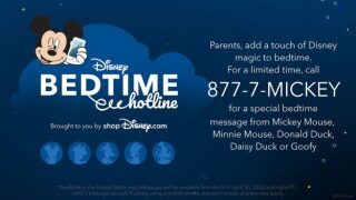 Disney wants to help parents put kids to bed with bedtime hotline number
