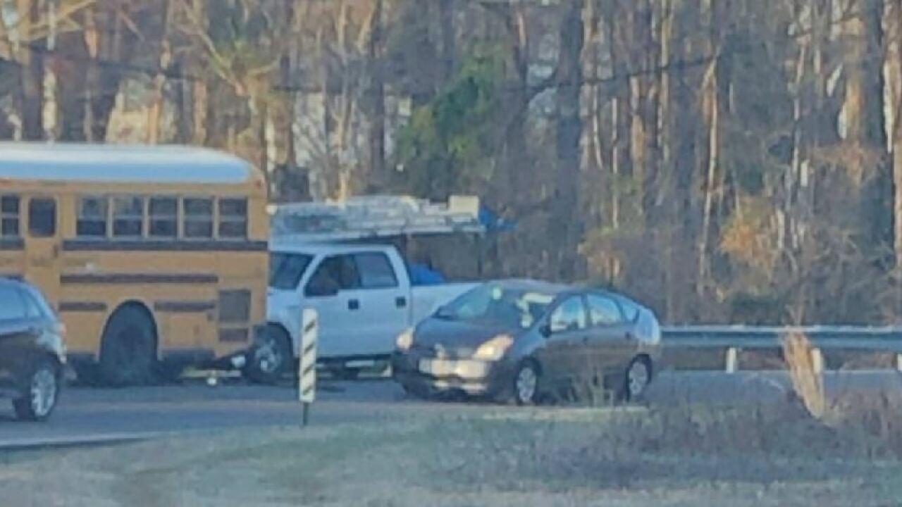 School bus crash reported inHenrico