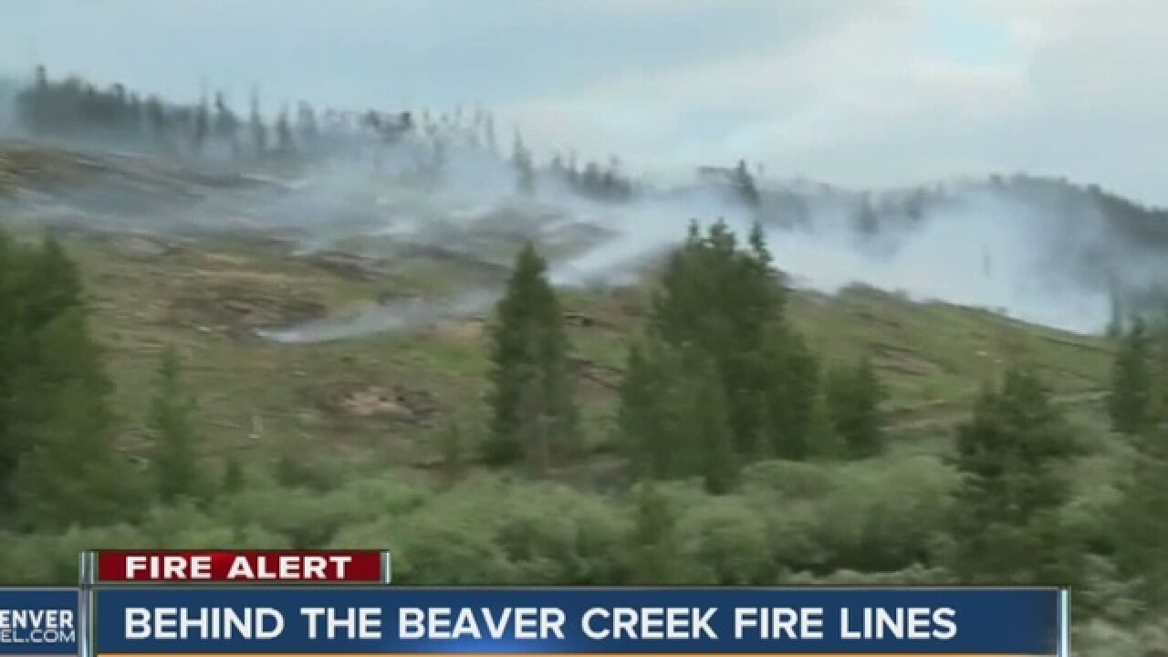 Beaver Creek Fire flares up again