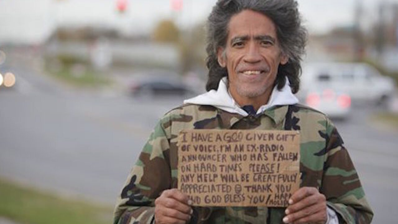 Once-homeless man back on the airwaves