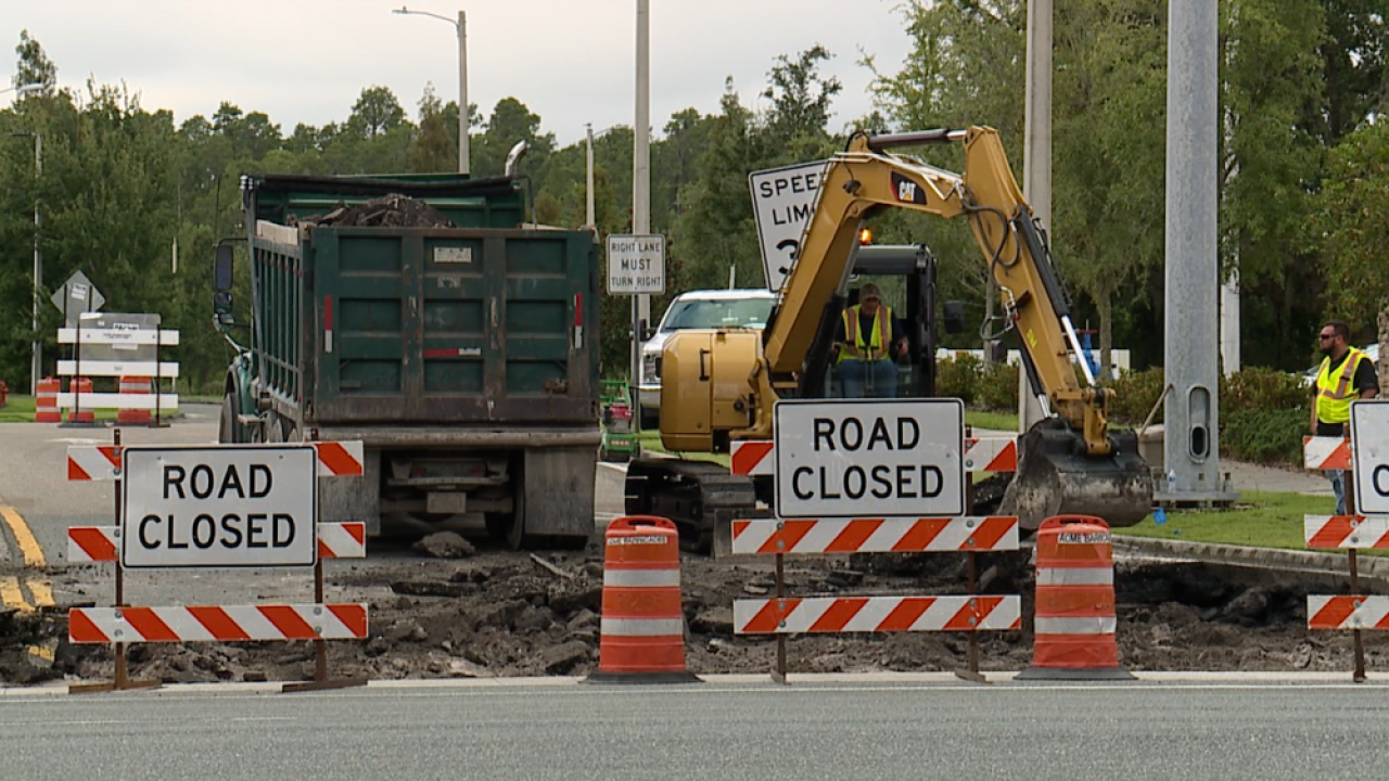 County Line Road road construction