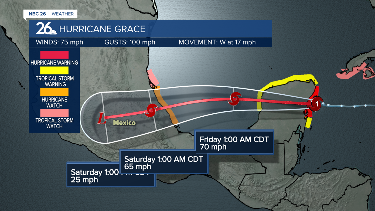 Category 1 Hurricane Grace (August 19, 2021)